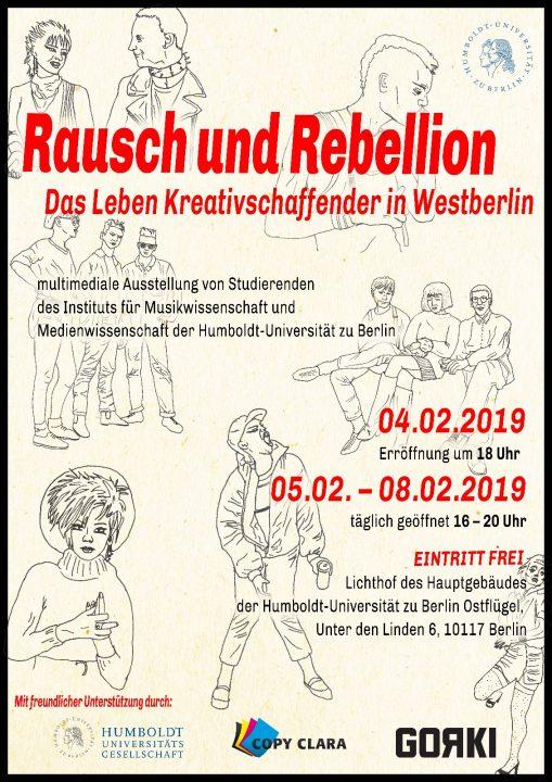 """Ausstellung """"Rausch und Rebellion"""""""