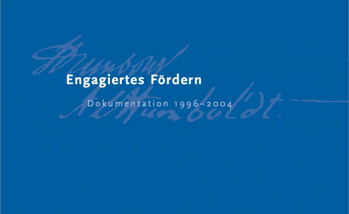 Engagiertes Fördern – Dokumentation 1996-2004