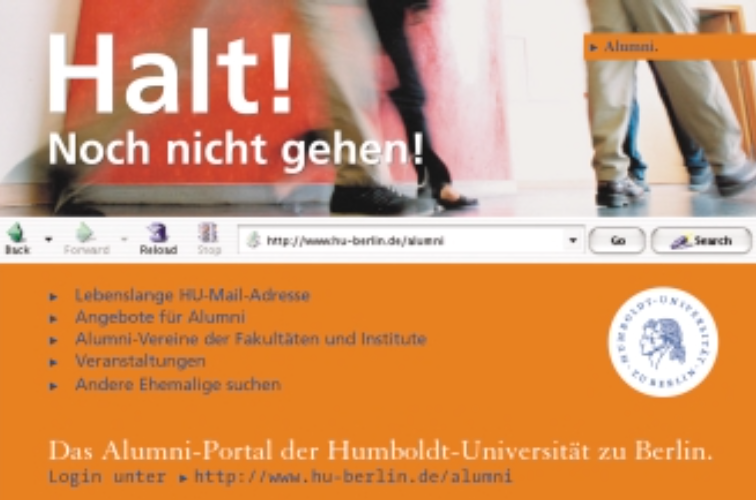 Aufbau eines internetbasierten Alumni-Portals